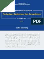 Presentasi Perbedaan Addendum Dan Amandemen