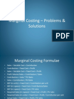 Marginal Costing Problems&Solutions 2