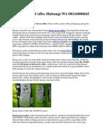 Harga Green Coffee Hubungi WA 08116888665
