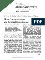 Mass Comunication and Political Socialization