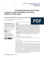 OJOG_Obstetrical and Perinatal Outcomes of Teenage Pregnant Women Attending a Secondary Hospital in Hyderabad
