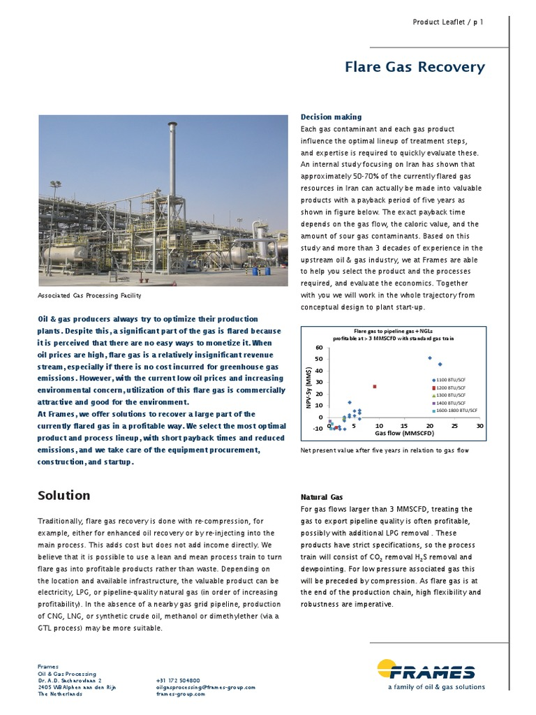 Product-Leaflet-Flare-Gas-Recovery-web.pdf | Natural Gas | Liquefied ...