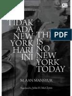 Aan Mansyur - Tidak Ada New York Hari Ini