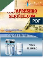 Aqua Fresh RO Service  in Janakpuri, Dwarka, Najafgarh. Contact us