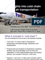 Insights Into Cold Chain and Air Transportation