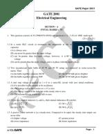 GATE EE 2001 Actual Paper_2