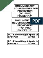 Folder Label for Promotion