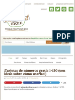 ¡Tarjetas de números gratis 1-130 (con ideas sobre cómo usarlas!) - The Measured Mom