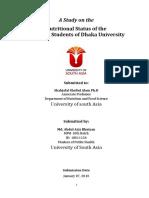 Nutrional Status of the DU