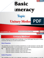 Basic Numeracy Unitary Method
