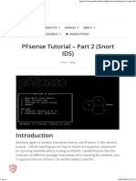 PFsense Tutorial - Part 2 (Snort IDS)