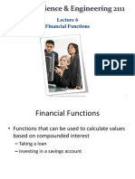 Lecture 6-Financial Functions and Excel Charts