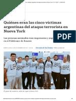 Cinco Víctimas Argentinas Del Ataque Terrorista en Nueva York