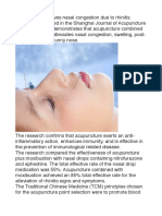 Acupuncture Relieves Rhinitis & Prevents Oral Ulcers