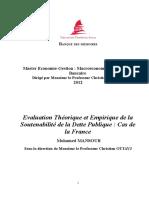 Evaluation Théorique et Empirique de la Soutenabilité de la Dette Publique Cas de la France.pdf