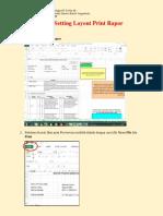 Cara Setting Print Rapor
