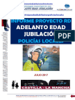 Informe Rebaja Edad Jubilacion Policias Locales Según Proyecto Rd Julio 2017
