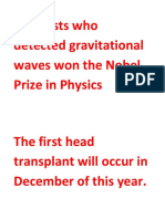 Scientists Who Detected Gravitational Waves Won the Nobel Prize in Physics