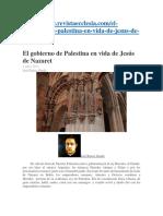El Gobierno de Palestina en Vida de Jesús de Nazaret
