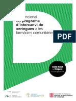 Pla funcional del programa d'intercanvi de xeringues a les farmàcies comunitàries