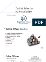 Air Outlet Selection and Insulation