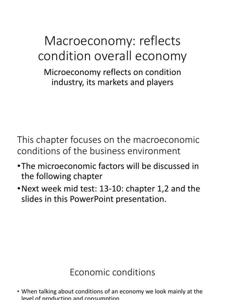 what are microeconomic factors