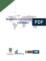 Misión de política exterior colombia