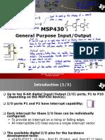 MSP430 GPIO