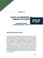 9.1 Hacia Una Concepción de Desarrollo Humano Integral