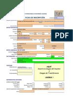 Ficha de Inscripción en Valorización y Liquidación de Obras Aplicando Excel