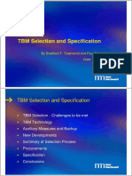TBM Selection and Specification