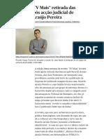 Acção Judicial de Ricardo Araújo Pereira