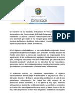 Venezuela rechaza declaraciones de Francisco Palmieri, Subsecretario Adjunto Interino