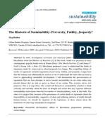 The Rhetoric of Sustainability
