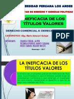 Ineficacia de Los Títulos Valores - Grupal