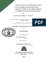 A COMPARARATIVE EFFECT OF MATRABASTI AND SNEHAPANA (SHAMANA SNEHAPANA) WITH SUKUMARAKUMARAKA GHRITA IN THE MANAGEMENT OF VATASHTILA (BENIGN PROSTATE HYPERPLASIA)