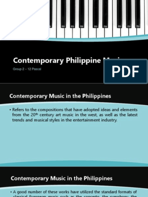 Contemporary-Philippine-Music pptx | Entertainment | Performing Arts