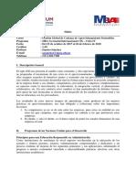 Silabo - Gestión Global de Cadenas de Aprovisionamiento Sostenibles (SPOOC) - MBA GI 109
