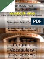 Ceramic Vocabulary