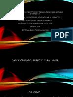 Tipos de Conexion de Cable Directo Cruzado y Rollover