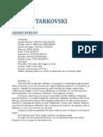 Andrei Tarkovski Andrei Rubliov