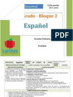 Plan 6to Grado - Bloque 2 Español