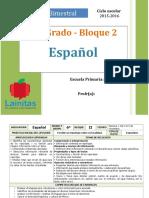 Plan 6to Grado - Bloque 2 Español