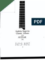 Andres Segovia - Classic Album for Guitar Vol 14-1