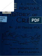 FREESE J. H. a Short Popular History of Crete