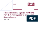 Financial Crime Guide for Firms - P1 Firm's Guide to Preventing Financial Crime (FCA UK 2016)
