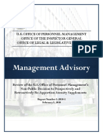 Advisory on OPM Retirement Annuity Actions
