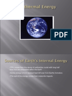 Geothermal Energy and Tidal Power