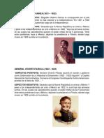 Presidentes de Guatemala Desde 1821 Hasta La Actualidad Con Lo Positivo y Negativo