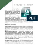 Aplicaciones y Utilidades de Microsoft Publisher